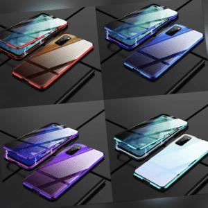 Xiaomi Mi 10T Lite 5G - Magnet 360° Schutz-Case Handy-Hülle Glas Metall Tasche