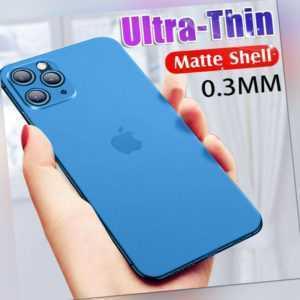ULTRA DÜNN iPhone Schutzhülle Handy Hülle für Apple X XS XR 11 12 Pro Max Mini ✅