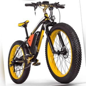 """26"""" e-Fatbike e-Bike breite Reifen mit 1000W Motor Federgabel und Scheibenbremse"""