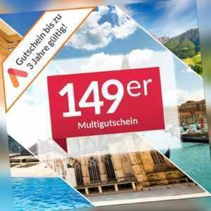Multi Hotel Gutschein 4 Tage Kurzurlaub 2 Personen über 90 Hotels Animod 149er