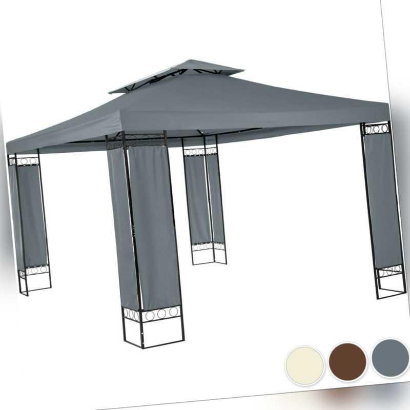 Pavillon Gartenzelt Partyzelt Festzelt Garten Pavillion Zelt 390x290 cm Metall