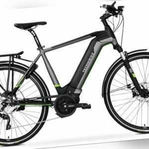 28 Zoll E-Bike TechniBike Trekking Elektro Fahrrad Herren Pedelec Conti 600Wh M
