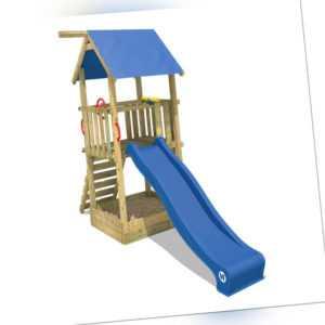 WICKEY Spielturm Spielhaus Smart Tale Kinder Holz Rutsche großer Sandkasten
