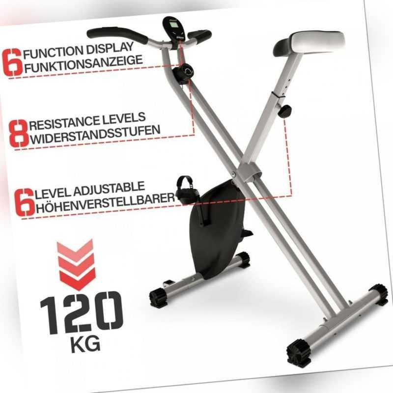 Physionics® Heimtrainer Fahrrad Fitness Speedbike Hometrainer Trimmrad Ergometer