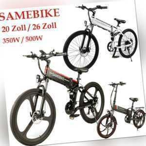 "SAMEBIKE 20""/26 zoll 48V 500W/350W Klapp-Elektrofahrrad E-Bike Electric Bicycle"