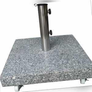 PHG 40 kg Granit Sonnenschirm Ständer mit 4 XXL Rollen Schirm Halter Granit