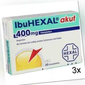 3x IBUHEXAL akut 400 Filmtabletten 20 St PZN: 68972