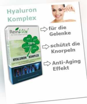Hyaluron Komplex - Arganöl, Hyaluron, Astaxanthin für Gelenke, Zellschutz, Haut