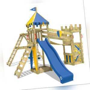 WICKEY Spielturm Ritterburg Smart Legend 150 mit Schaukel & blauer Rutsche