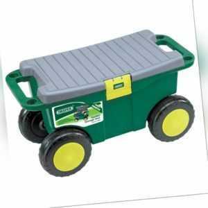 Draper Tools Garten Werkzeugwagen&Sitz Rollsitz Wagen 56x27,2x30,4cm Grün 60852