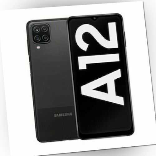 """Samsung Galaxy A12 32GB Dual-SIM (6,5"""") Infinity-V Display Schwarz *NEU&OVP*"""