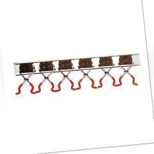 Bruns Uni Gerätehalter Set 6 Halter + 1m Führungsschiene Werkzeugleiste Werkzeug