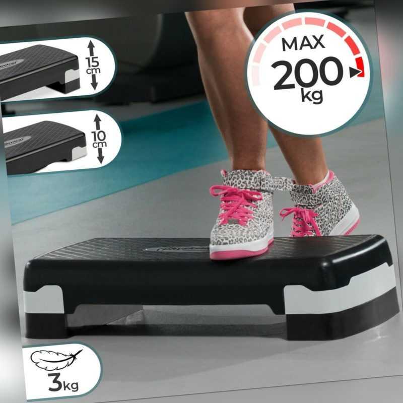 Physionics® Steppbrett Aerobic verstellbar Fitness Stepper Step Bench Stepbank