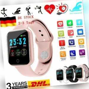 Damen Smartwatch Bluetooth Fitness Armband Wasserdicht Sport Uhr Tracker DHL