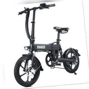 16 Zoll DOHIKER Elektrofahrrad 350W Faltbares E-Bike Klapprad 36V 10Ah 25km/h