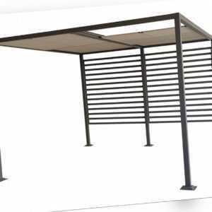 Gartenpavillon Pavillon Zelt Dach faltbar Amun 3x4m Zelt Metall stabil Pergola