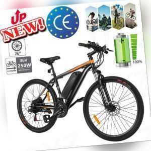 """Elektrofahrrad 26"""" Damen Mountainbike eBike Pedelec Citybike 21-Gang Trekkingrad"""
