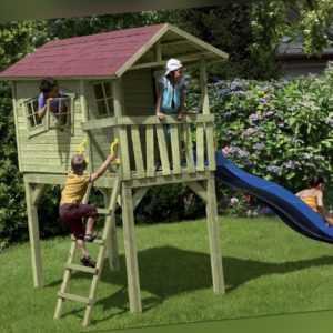 Kinderspielhaus CRAZY BENNY Spielhaus Gartenhaus Spielturm Kinderhaus Haus Turm