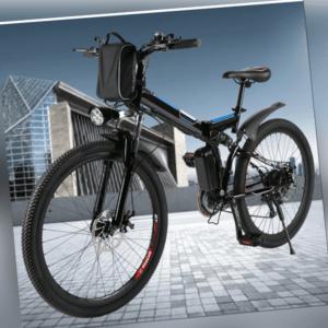 Elektrofahrrad Mountainbike E-Citybike 26Zoll Klappbare 250W Shimano Pedelec DHL