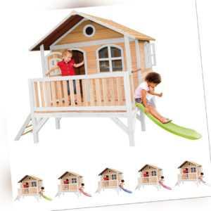 Kinder-Spielhaus Garten-Stelzenhaus Stef Rutsche in 5 Farben AXI FSC Holz