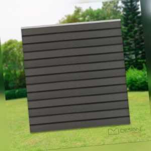 ML-Design WPC Quadratischelement Sichtschutzzaun Gartenzaun Windschutzzaun Grau