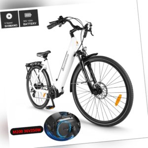 BAFANG 36V 250W Mittelmotor 700C Elektrofahrrad City Bike 15Ah Shimano 8-Gang