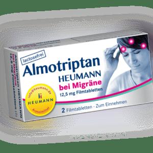 Almotriptan HEUMANN bei Migräne 12,5 mg FTA 2 St PZN: 10750044