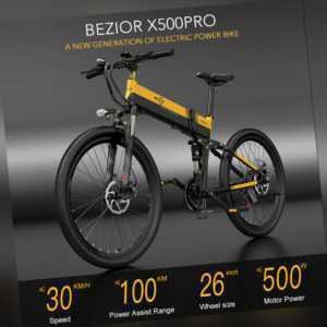 BEZIOR X500Pro 500W 26 Zoll Falten Elektrofahrrad E-Bike Power Assist Bike 10.4A