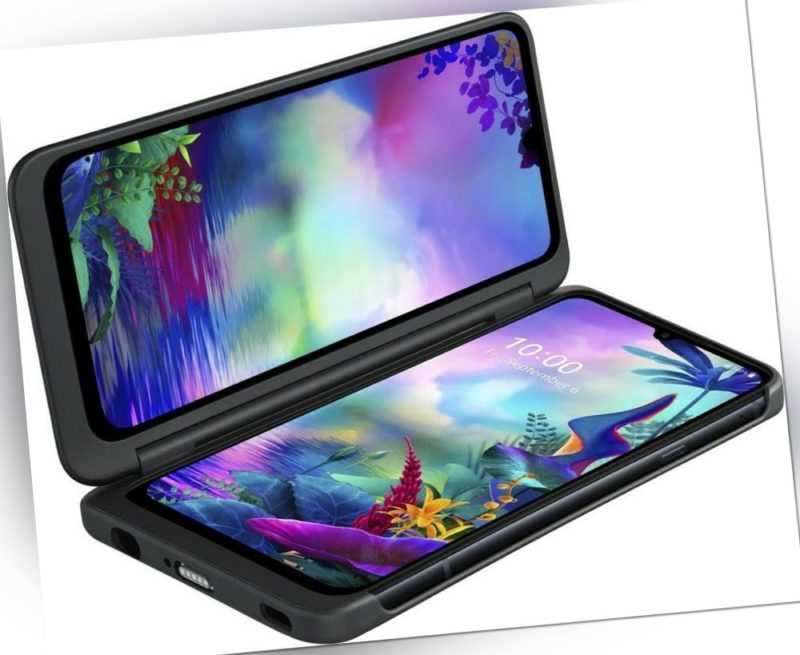 LG G8X ThinQ LMG850EM - 128GB - Aurora Black inkl. DualScreen   Aussteller