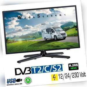 Reflexion LEDW190 LED Fernseher TV 18,5 Zoll 47cm DVB-S2 /C/T2 USB 12/24/230Volt