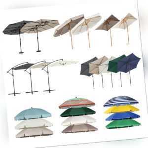 Ampelschirm Sonnenschirm Kurbelschirm halbrund Balkonschirm Strandschirm Garten