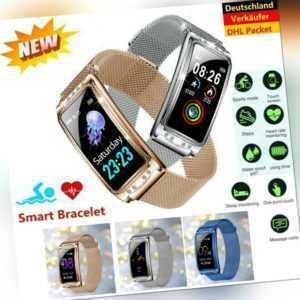 IP68 Wasserdicht Bluetooth Smartwatch Armband Fitness Tracker Sportuhr Für Damen