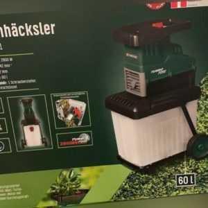 Elektro Häcksler 2800W Gartenhäcksler Schredder PLH2800 Leisehäcksler PWH 2800