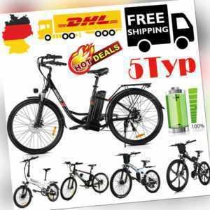 Elektrofahrrad Mountainbike 20/26Zoll Rad E-Bike Shimano Pedelec E-fahrrad 5-Typ