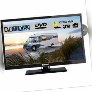 Gelhard GTV2442 LED Fernseher 24 Zoll DVB/S/S2/T2/C, DVD, USB, 12V 230 Volt