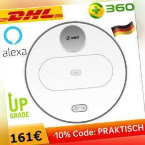 360 S6 Alexa Saugroboter Staubsauger Wischroboter Kehrroboter Vacuuming+Wischen