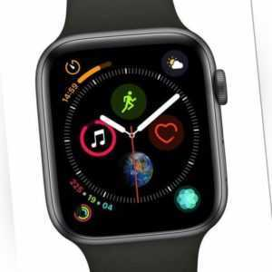Apple Watch Series 4 GPS LTE 44mm Aluminiumgehäuse Space Grau Sportband Schwarz