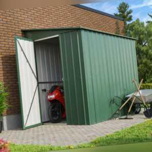 Globel Pultdach Wand-Gerätehaus LeanTo, 2 Großen, 2,46qm-3,37qm, grün jade