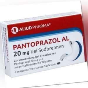 PANTOPRAZOL AL 20 mg bei Sodbr.magensaftres.Tabl. 7 St PZN 5883659