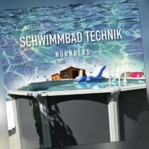 Pool Stahlwand Schwimmbecken 7,65 X 4,60 X 1,35m breiter handlauf supreme design