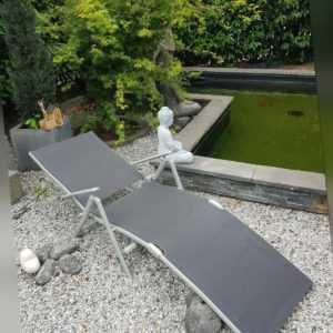 Liegestuhl Sonnenstuhl Liege Aluminium FLORABEST Neuware