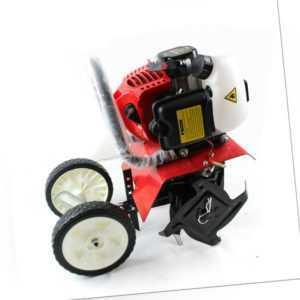 2-Takt 52CC Benzin Pflüger Bodenhacke Kultivator Grubber Gartenhacke Motorhacke