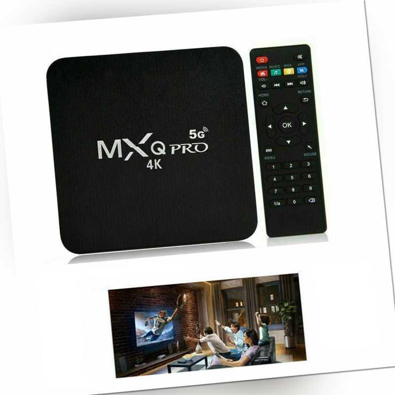 MXQ Pro Android 9.0 Quad Core 4K 5G WIFI Smart TV BOX Media Player 3D Films neu