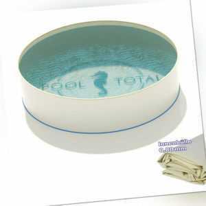 Pool Standard Ø 3,50 x 0,90 m rund 0,6mm Stahlwand + 0,8mm Folie Keilbiese sand