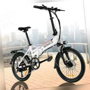 VIVI Elektrofahrrad Klapprad 20 Zoll 36V E-Bike Pedelec 250W Motor Citybike