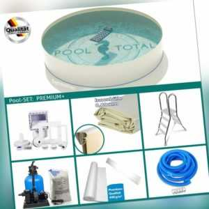 Pool-Set PREMIUM Ø 3,50 x 0,90 m rund 0,6mm Stahl + 0,8mm Folie KB sand Rundpool