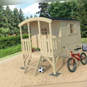 Palmako Kinderspielhaus Bauwagen HUCK 3,3m2 auf Stelzen, TÜV geprüft, Kinderhaus
