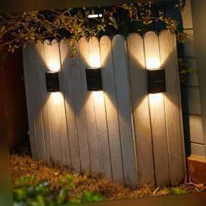4XSolarleuchte Solarlicht Beleuchtung LED Solarstrahler Außenleuchte Gartenlampe