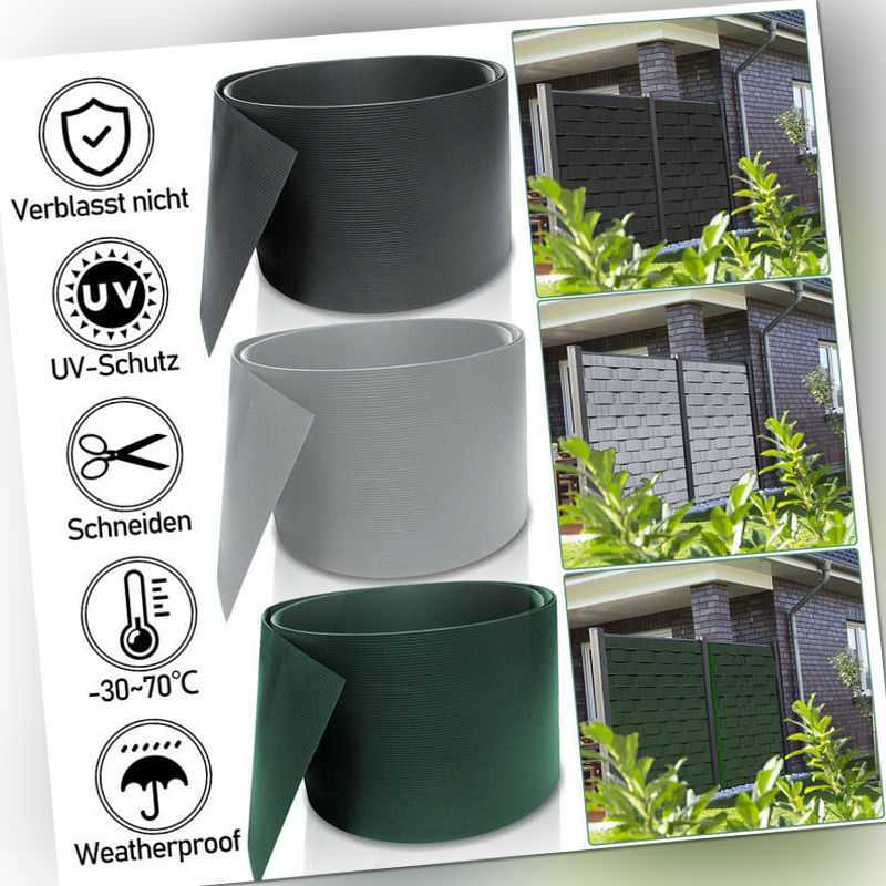 PVC Sichtschutzstreifen Sichtschutzmatte Rolle 25m-100mx19cm Gittermatten Hart