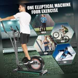 APP Crosstrainer, Ellipsentrainer m.8 Magnetwiderstandsstufen LCD-Monitor 150kg